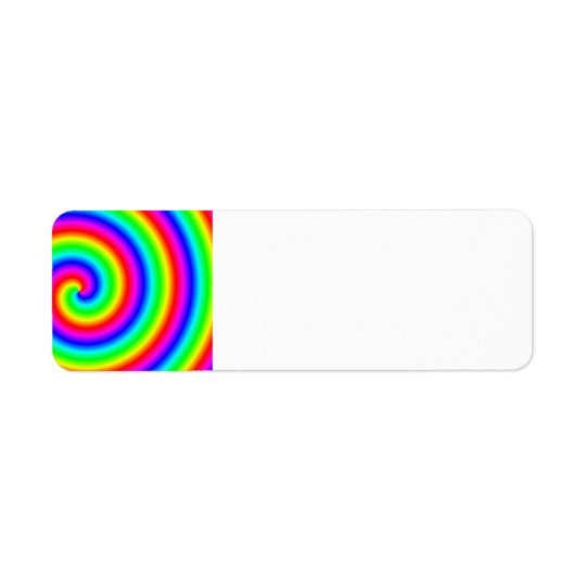 Rainbow Colours. Bright and Colourful Spiral.