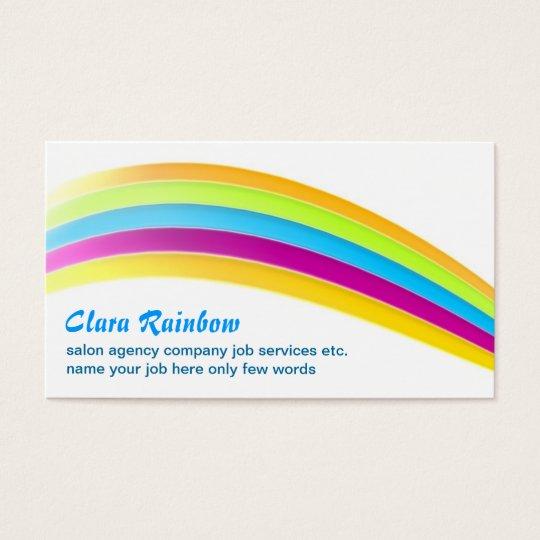 rainbow colours business card