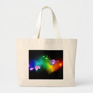 rainbow colours jumbo tote bag
