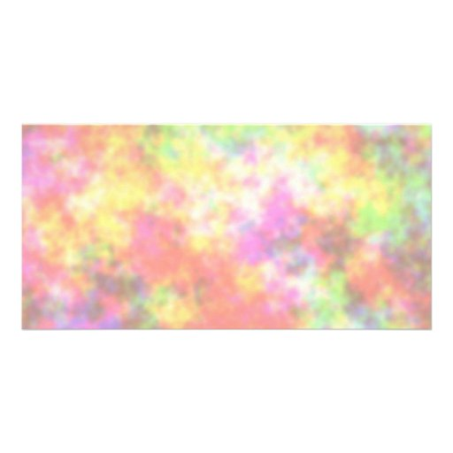 Rainbow Colours. Pretty, Colourful Clouds. Photo Card Template
