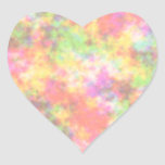 Rainbow Colours. Pretty, Colourful Clouds. Heart Sticker