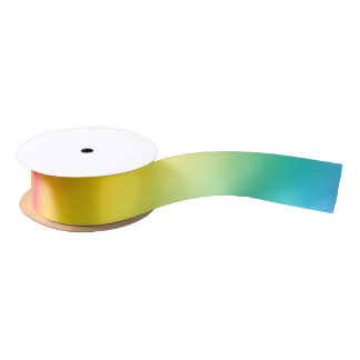 rainbow colours satin ribbon