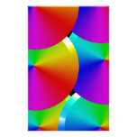 Rainbow colours stationery paper