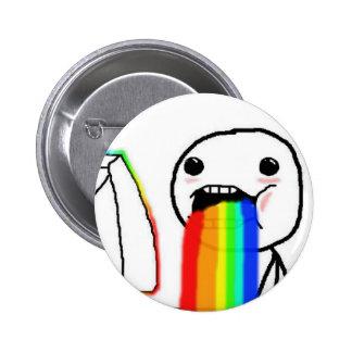 Rainbow Computer Face Guy 6 Cm Round Badge