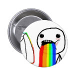 Rainbow Computer face Pinback Button