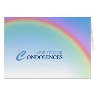 Rainbow Condolence Card