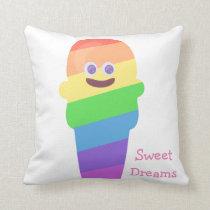 Rainbow Cone Zone Cushion