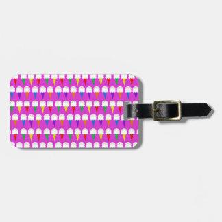 Rainbow Cones on Purplish Pink Luggage Tag