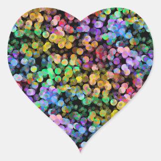 Rainbow, Confetti, Colorful, Sequin, Colourful Heart Sticker