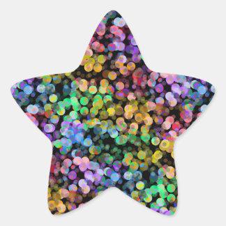 Rainbow, Confetti, Colorful, Sequin, Colourful Star Sticker