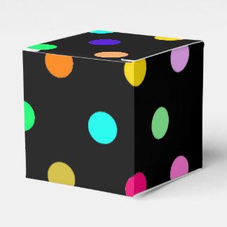 Rainbow confetti polka dots favor box