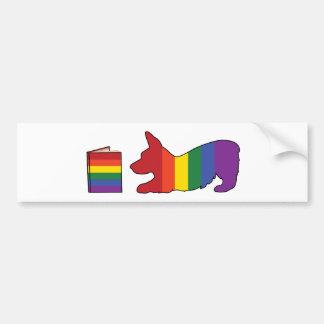 Rainbow Corgi Bumper Sticker