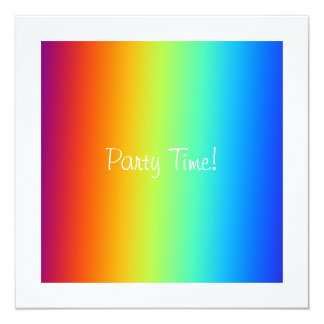 Rainbow Cotton Candy Event Party Invitation White