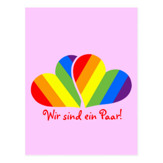Rainbow Couple Postcard