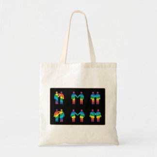 rainbow couples in lone tote bag