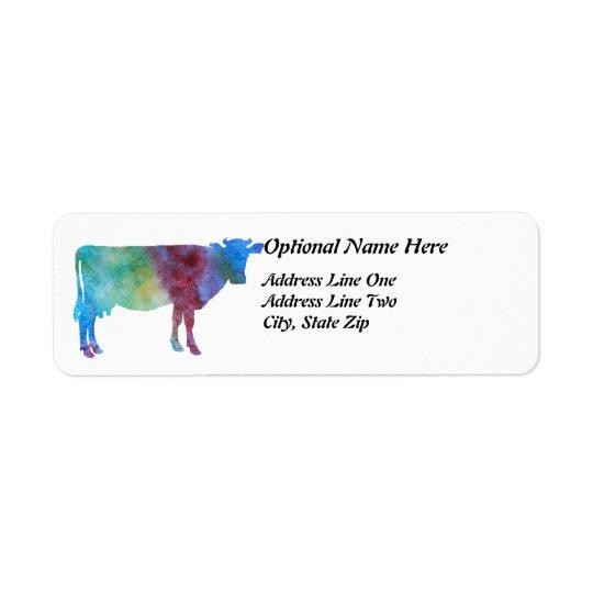 Rainbow Cow With Customisable Text