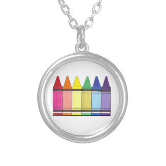 Rainbow Crayon Art Teacher LGBT Gay Pride Necklace