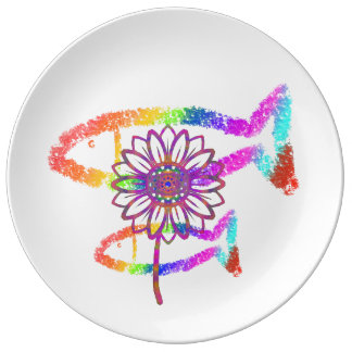 Rainbow Crayon Plate