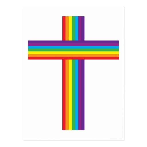 Rainbow CROSS Postcard