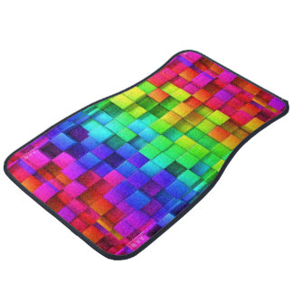 Rainbow Cubes Floor Mat