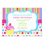 Rainbow Cupcake Birthday Party Invitations 13 Cm X 18 Cm Invitation Card