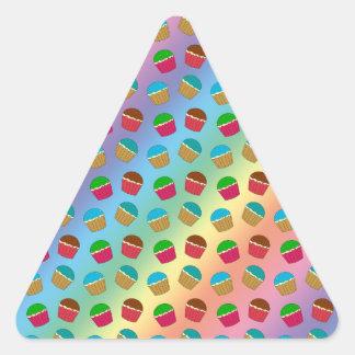 Rainbow cupcake pattern stickers