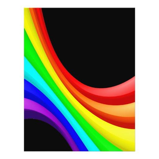 Rainbow Curve Flyer Design
