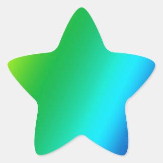 rainbow custom design star sticker