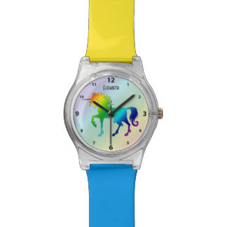 Rainbow Custom Name Unicorn Watch