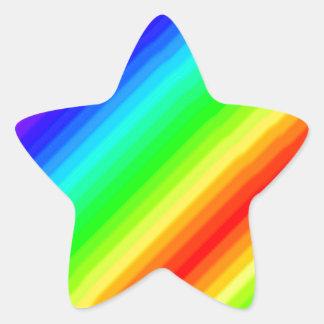 Rainbow Customisable Star Sticker