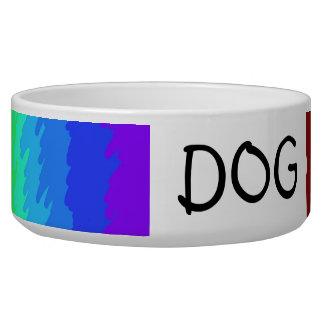 rainbow customizable dog bowl