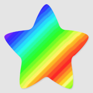 Rainbow Customizable Star Sticker