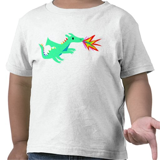 Rainbow cute dragon shirt for kids