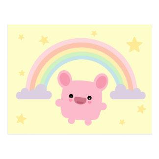 Rainbow Cutie Postcard