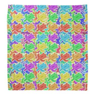 Rainbow Cutout Turtles Pattern Head Kerchief