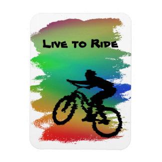 Rainbow Cyclist Flexi Magnet