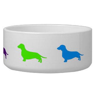 Rainbow Dachshund bowl