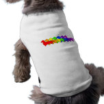Rainbow Dachshund Sleeveless Dog Shirt