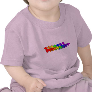 Rainbow Dachshund Tshirts