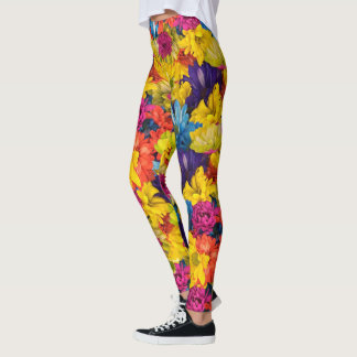 Rainbow Daisies Leggings