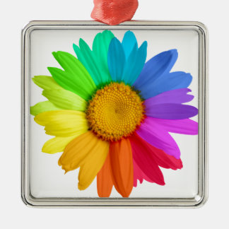 Rainbow Daisy Christmas Ornament