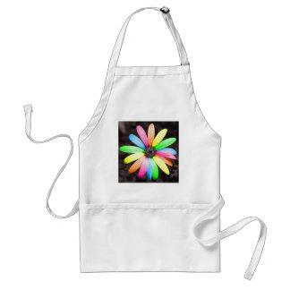 Rainbow daisy flower adult apron