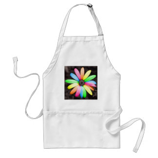 Rainbow daisy flower standard apron
