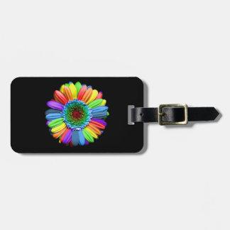 Rainbow Daisy Luggage Tag