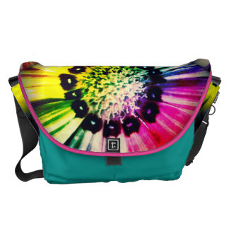 Rainbow Daisy Messenger Bag