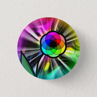 Rainbow daisy starburst button