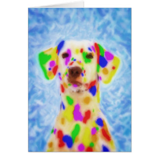 Rainbow Dalmatian Greeting Card