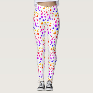 Rainbow Dalmatian Spots Leggings