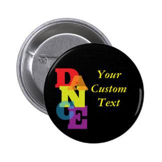 Rainbow Dance Vertical 2 Inch Round Button