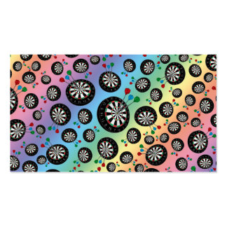 Rainbow dartboard pattern pack of standard business cards